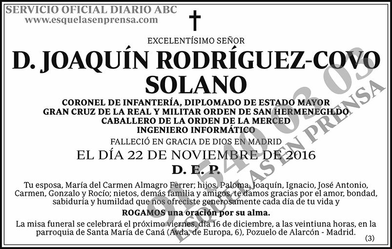 Joaquín Rodríguez-Covo Solano